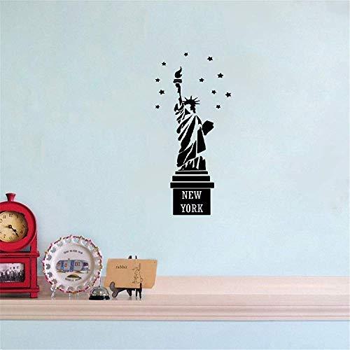 Wandaufkleber Kinderzimmer wandaufkleber 3d Freiheitsstatue New York Nyc Usa Aufkleber Schlafzimmer Skyline Aufkleber