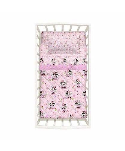 Koordinierte Babybett Nestchen Bettdecke und Bettwäsche-Set Mädchen Caleffi Minnie Fairy