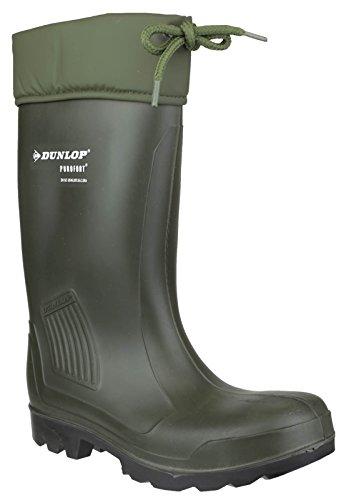 Dunlop c462943THERMOFLEX toute sécurité orteil acier travail unisexe Wellington Vert green