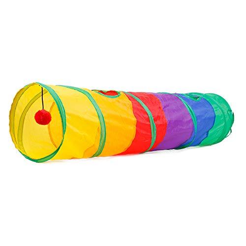 COL PETTI Katzentunnel mit Ring, Papier, Katzen-Bohrer, Zelt, faltbares Spielzeug für Haustiere