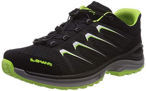 Lowa Maddox Lo, Stivali da Escursionismo Uomo, (Nero/Limone 9903), 46 EU