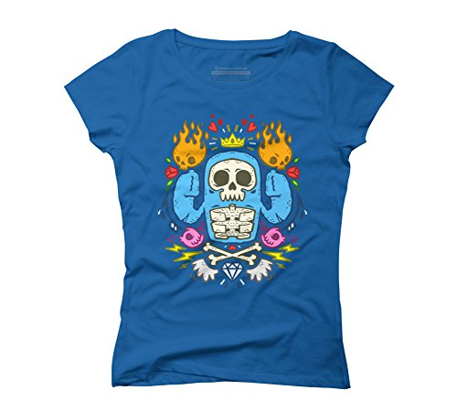 Skullkid and all his glory Women's 2X-Large Royal Blue Graphic T-Shirt - Design By Humans (T-shirt Blue Skull Flame)