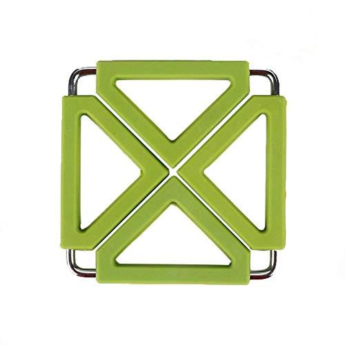 Zusammenklappbare quadratische Küche hitzebeständige Tischmatten, HomeYoo waschbare justierbare...