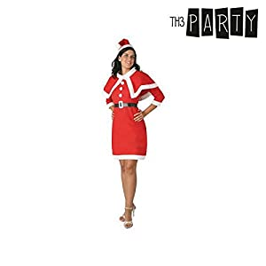 Atosa-48415 Atosa-48415-Disfraz Mamá Noel Fieltro Mujer Adulto-Talla Navidad, Color rojo, XL (48415