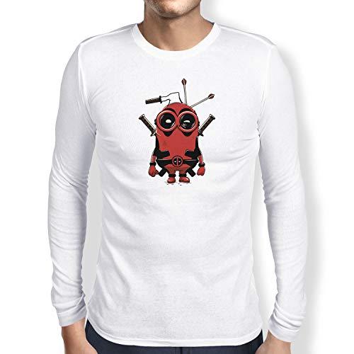 Herren Langarm T-Shirt, Größe XXL, weiß ()