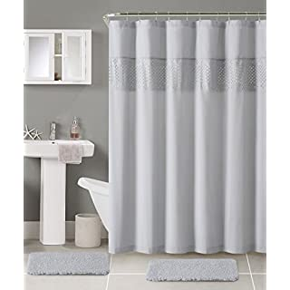 Luxury Home SAB-BTH-15PC-AA-GV 15 Piece Sabrina Bath Set, Grey