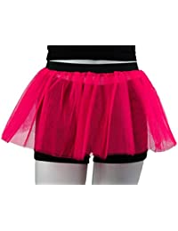 Just 4 Fun Leisurewear Neon Pink 3 Layer Tutu Skirt - Size 8 To 16