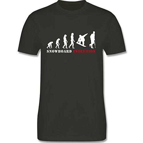Evolution - Snowboard Evolution - Herren Premium T-Shirt Army Grün