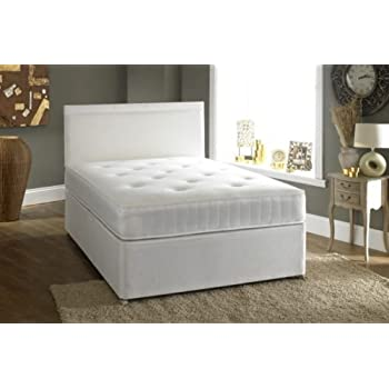 Small double 4 39 0 divan bed 2 drawers and ortho mattress for Small double divan bed