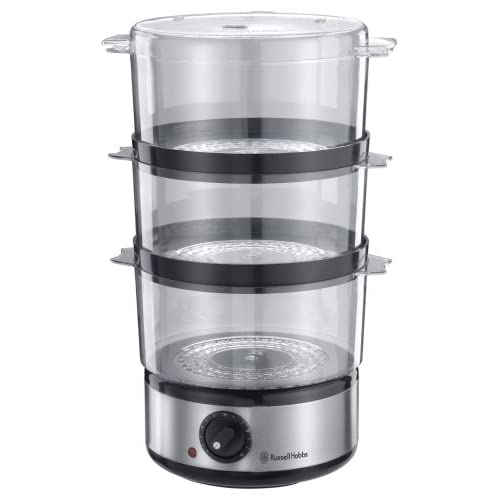 Russell Hobbs Food Collection Compact Food Steamer 14453, 7 L – Brushed Stainless Steel