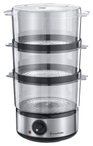41Cz4ZHTW3L - Russell Hobbs Food Collection Compact Food Steamer 14453, 7 L - Brushed Stainless Steel