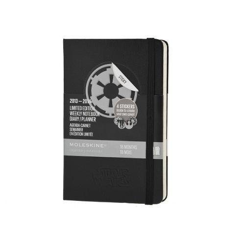 Moleskine - Agenda carnet semainier en edition limitee Star Wars - 2013/2014 (18 mois) - 9X14 cm