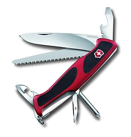 Victorinox Ranger Grip 56 Swiss Army Pocket Knife - Red/Black, 8.5 cm/Large