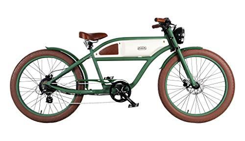 Blast Bikes - The Classic Green + Beige Greaser - Retro Pedelec Vintage Fahrrad Grn Beige (Vintage-fahrrad-scheinwerfer)