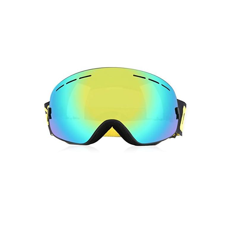 cdb9daa12bcf9d Masques-et-lunettes-Ski-Lunettes-de-protection-UV400-Lunette -Dtachable-Snowboard-Patinage-Motoneige-pour-Homme-Femme -avec-Extra-large-Lentille-Lunettes-de- ...