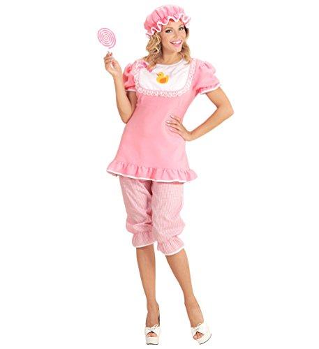 Karneval-Klamotten Baby Kostüm Erwachsene Damen-Kostüm rosa-weiß Karneval Fasching Größe ()