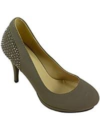 Chaussmaro Chaussures Escarpins Femme à Talons Hauts, Plateforme et Strass