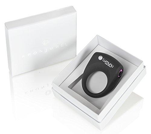 Deluxe Silikon Vibro Penisring Lumunu Kronjuwel, Cockring vibrierend mit Klitorisstimulator, wasserdicht -