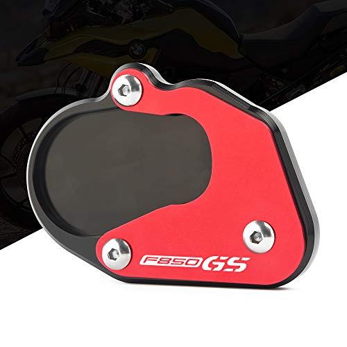 Preisvergleich Produktbild Motorrad Seitenständer Fuß Verbreiterung Ständer Platte Teller CNC Aluminium Passend für B-M-W F750GS F850GS 2018 2019