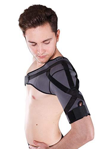 LOREY Hochwertige Schulterbandage, Schulter-Bandage aus 4 mm dickem Neopren Größe XL -