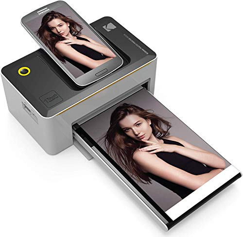 KODAK Dock Station 9 x 14 cm Fotodrucker mit fortgeschrittener Sublimations-Tintendrucktechnologie & mit Fotokonservierungsschicht, kompatibel mit Android & iOS - No WiFi