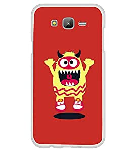 Fuson Designer Back Case Cover for Samsung Galaxy On5 (2015) :: Samsung Galaxy On 5 G500Fy (2015) (Animated Cartoon charecter Funny Sharp teeth)