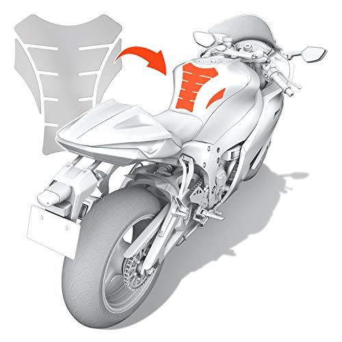 Luxshield Motorrad Tankpad Lackschutzfolie Kratzschutz für Tank - Transparent glänzend & selbstklebend