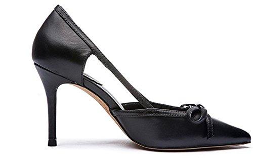 Bow chaussures de cuir Dame Printemps/Eté/Chaussures sexy avec des talons aiguilles creuses B