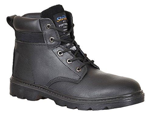 Pelle Steelite Thor Sicurezza Sul Lavoro Scarpone Scarpe Alla Caviglia Acqua Perfora Scivolo Resistente - Nero, Uomo, 44 EU. Brown