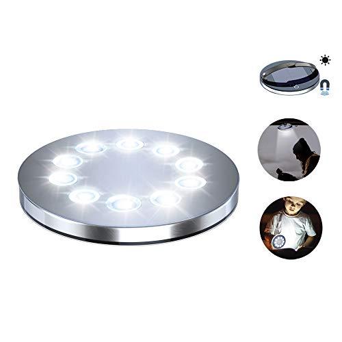 Babacom Luz Solar Exterior, Inflable Lámparas LED Exterior Solares [Base Magnética Desmontable] Segura Impermeables Luces Solares & Linterna con 4 Modos para Jardín Cámping y Situación de Emergencia