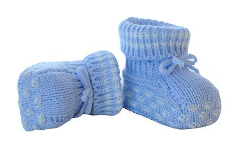 Booties Baby Schuhe Socken Erstlingssocken Söckchen Blau Neugeborene (Neugeborenen Bootie)