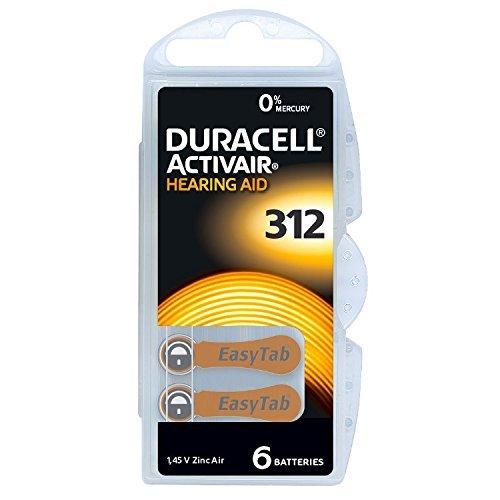 Batterie für Hörgeräte '312' (10 Hörgeräte-batterien Duracell)