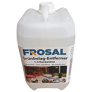 Frosal Grünbelag-Entferner Algenentferner Moosentferner   Grünbelagentferner   Entmooser Stein-Reiniger 5 Liter Konzentrat 1 :3