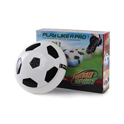 PLAY LIKE A PRO INDOOR HOVER FOOTBALL Glides on a cushion of air on Carpets and Hard Flooring - inexpensive UK light shop.
