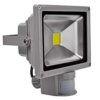 FARO DA 20W CON SENSORE DI MOVIMENTO FARETTO A LED LUCE BIANCA 220V - 102981
