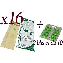 Bolsas de papel natural + ambientadores de pino para aspirador Folletto Vorwerk VK120 – 121 –