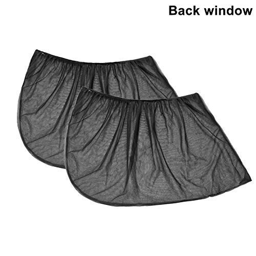EUYOUZI 2Pcs Slip On Car Window Shades UV Sun Protection (Back Window)