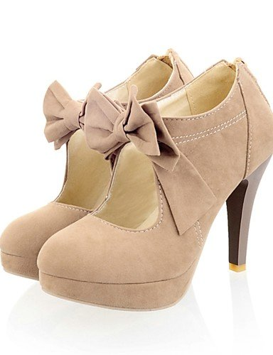 WSS 2016 Chaussures Femme-Habillé / Soirée & Evénement-Noir / Poil de Chameau-Talon Aiguille-Talons / Bout Arrondi-Talons-Laine synthétique black-us8.5 / eu39 / uk6.5 / cn40