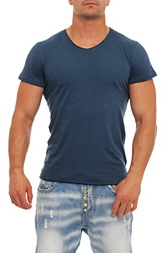 !Solid -  T-shirt - Basic - Maniche corte  - Uomo Denim scuro S