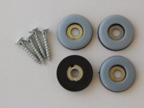 40 Stück Teflon-Möbelgleiter Ø 22 mm mit Schrauben, PTFE-Gleiter, Teflongleiter