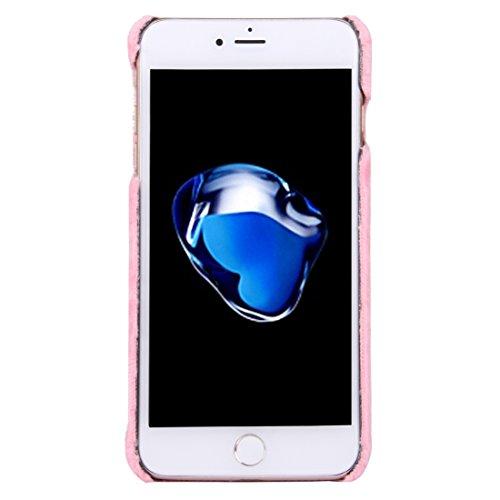 GHC Cases & Covers, Für iPhone 7 Plus 3D Blume Plüsch Stoff Abdeckung PC Schutzhülle mit Diamant verkrustet Bowknot Kette Anhänger ( Color : Black ) Pink