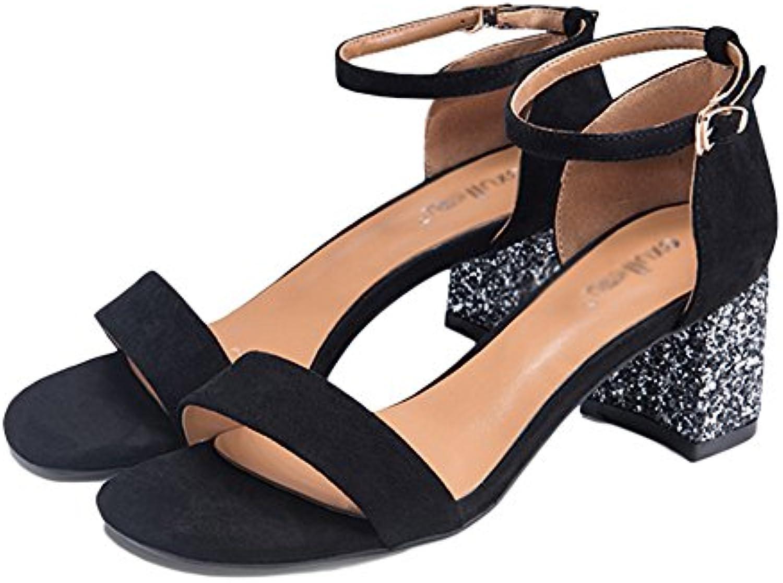 Frauen Sandalen Frühling Sommer High Heels Wilde Wörter Vintage-Mode Frauen Schuhe (6 5 Cm) Für Arbeit