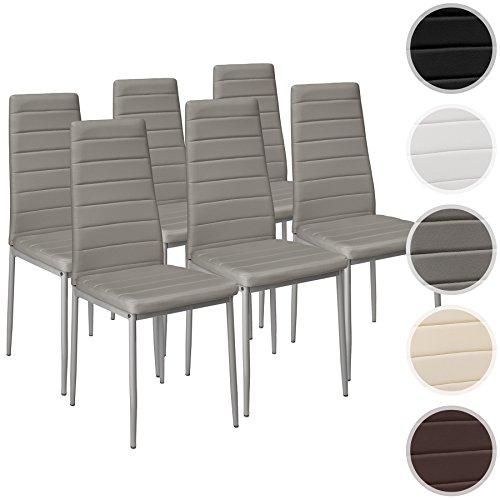 TecTake Set de 6 sillas de comedor 41x45x98,5cm...