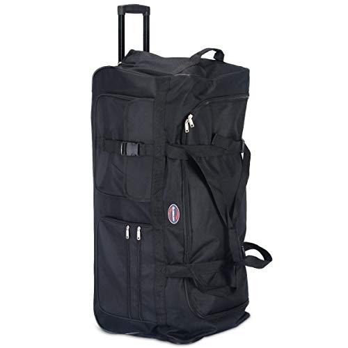 COSTWAY Trolleytasche 145L | Reisetasche 3 Rollen | Reisetrolley 92x42x38cm | Gepäcktasche | Sporttasche | Schwimmbadtasche | Trolley | Reise Koffer