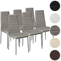 TecTake Set de 6 sillas de comedor 41x45x98,5cm gris