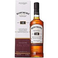 Bowmore 18 Jahre Single Malt Scotch Whisky (1 x 0,7 l) - fruchtig, rauchig & komplex im Geschmack, MB129172