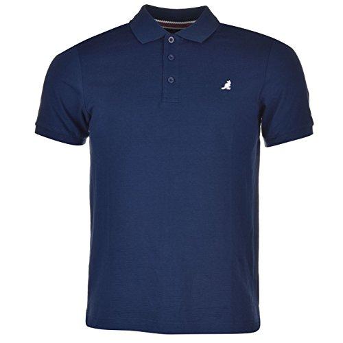 Kangol Brit Fit Herren Polo Poloshirt T Shirt Tee Top Kurzarm 3 Knoepfe Kragen L (3-knopf-kragen-shirt)