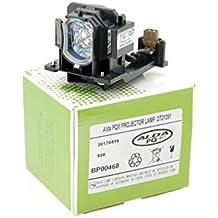 Alda PQ® Premium, Lámpara del proyector DT01091 compatible con HITACHI CP-AW100N, CP-D10, CP-DW10N, ED-AW100N, ED-AW110N, ED-D10N, ED-D11N proyectores, Alda PQ® lámpara con caja