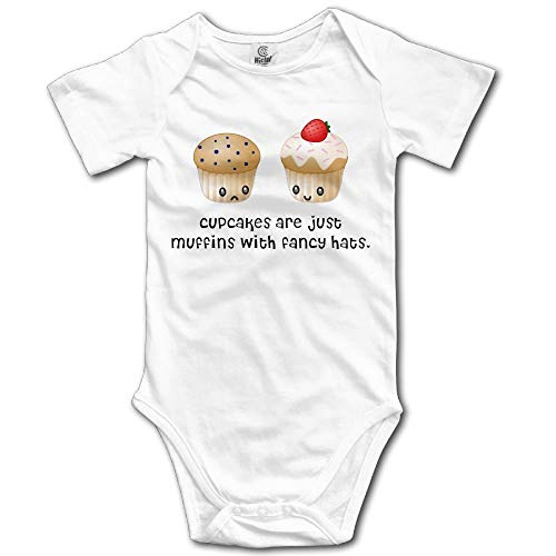TKMSH Cupcakes and Muffins Boy's & Girl's Short Sleeve Jumpsuit Outfits - Baby Girl Cupcake Kostüm