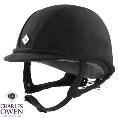 Charles Owen GR8 Riding Helmet Black 54cm